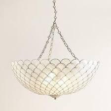 Capiz Shell Light Fixtures White Hanging Capiz Shells Vanity Light