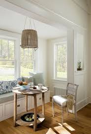 designs ideas corner breakfast area with rustic table and white