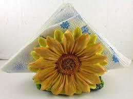 sunflower kitchen decor set detrit us sunflowers napkin holder decor bar home set kitchen poly resin