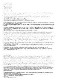 export procedure cargo letter of credit