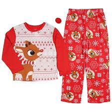 rudolph the nosed reindeer family sleepwear