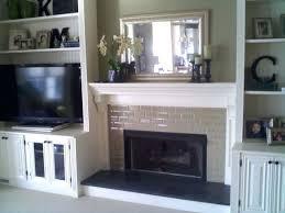 custom made entertainment center around fireplacerock fireplace