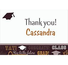 graduation thank you notes custom graduation thank you notes cards party city