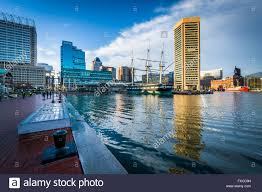 waterfront promenade and modern buildings at the inner harbor in