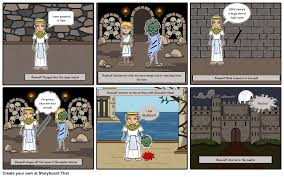 beowulf comic strip storyboard by georgianna