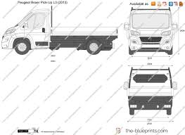 peugeot boxer the blueprints com vector drawing peugeot boxer pick up l3