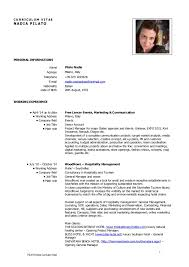 Sample Resume For Hotel Management Fresher by Cv Nadia Pilato Eng Mkt