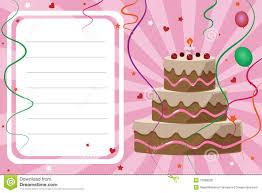 Free Birthday Invitation Cards Download Birthday Invitation Card Royalty Free Stock Photos Image