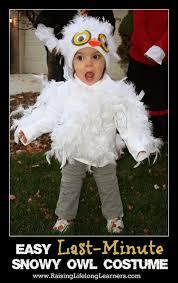 easy last minute snowy owl costume