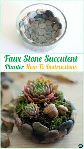 Faux Stone Planters by Diy Indoor Outdoor Succulent Garden Ideas Projects