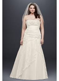 plus size country wedding dresses lace a line side split plus size wedding dress david s bridal