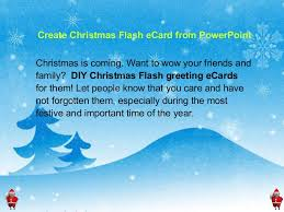 how to create christmas flash ecard from powerpoint