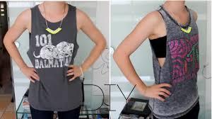 tops selbst designen diy t shirts zu tank tops schneiden