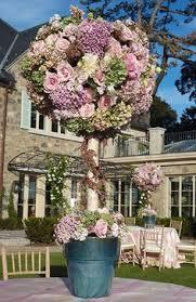 Topiaries Wedding - artificial flower arrangement faux flowers floral arrangement