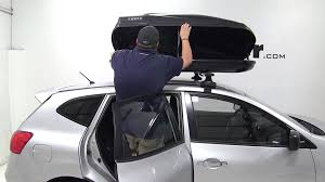 Nissan Rogue Xl - review of the thule force large rooftop cargo box on a 2013 nissan