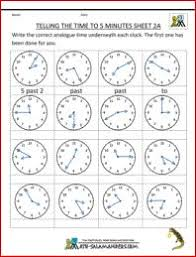 free time worksheets telling the time to 1 min 2 telling time