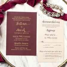 wedding invitations burgundy burgundy and gold wedding invitations for gold wedding