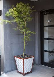 galvanized corrugated metal self watering planters so that u0027s cool