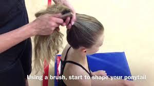 how to make a hair bun for rhythmic gymnastics youtube