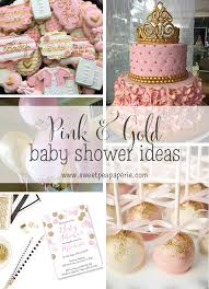 pink baby shower inspirations pink and gold baby shower sweet pea paperie