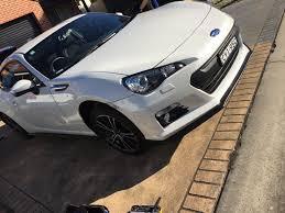 matte black subaru brz buy subaru brz sti front lip 2013 2016 sti models ausbody works