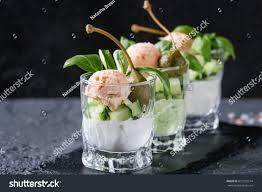 cuisine de a à z verrines verrines appetizer salmon pate caviar stock photo 627259574