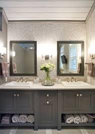 Refurbished Bathroom Vanity Painting Wood Cabinets One Room Challenge Week 3 Smooth