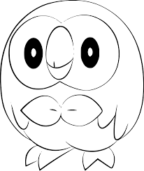 pokemon rowlet coloring page pokemon rowlet anime in free