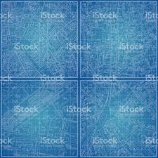 set of vector blueprints with city topography stock vector art