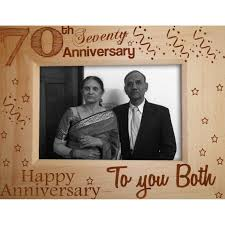 70th anniversary gift 70th anniversary gift wooden photo frame