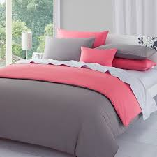 Pink Duvets Solid Gray Duvet Cover Sweetgalas