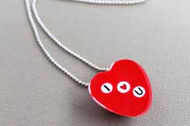 valentines day necklace s day necklace with letter resin crafts