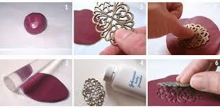 diy polymer clay pendant