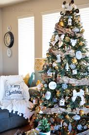 silver gold and rustic christmas tree