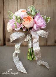 Peonies Bouquet Diy Pink Peonies And Succulent Bouquet