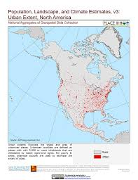 North America Maps by Maps Population Landscape And Climate Estimates Place V3