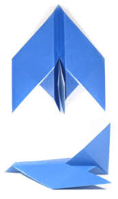 Easy Origami Peacock - how to make origami airplane
