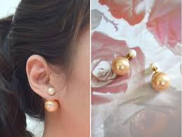 sided earrings trend review pearl stud earrings lollipuff