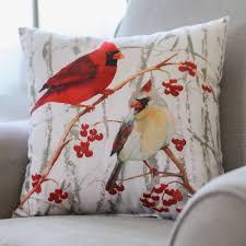 cardinal indoor outdoor pillow