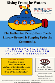 katherine tyra branch library bear creek harris county public