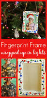 this fingerprint christmas lights photo frame makes the best gift