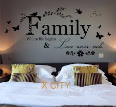 online get cheap bedroom wall quotes aliexpress com alibaba group family where life begins quote words bedroom wall art sticker removable vinyl transfer decal home decoration s m l