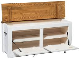 hallway storage bench shoe cabinet white 120cm wide by prestige