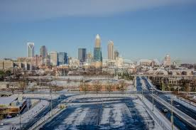 North Carolina scenery images Rare winter scenery around charlotte north carolina stock photo jpg