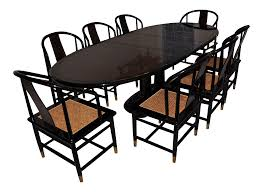 henredon art deco dining set set of 9 chairish