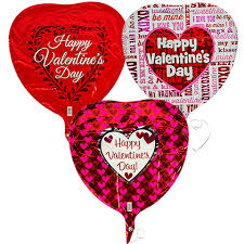 valentines ballons bulk uninflated heart shaped foil happy s day balloons
