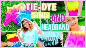 tie dye headbands diy tie dye halter shirts and headband mish shelly