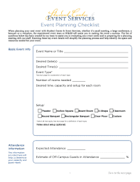 event planning checklist template forms fillable u0026 printable