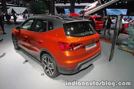 seat arona rear three quarters at iaa 2017 indian autos blog