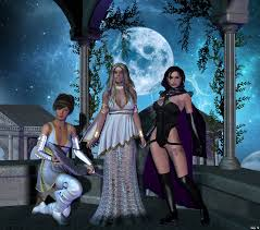 one moon three goddesses by hera of stockholm on deviantart